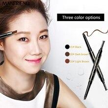 Manfriend марка моделирование повернуть макияж карандаш для бровей автоматический профессия водонепроницаемый природный длительный eye liner инструменты