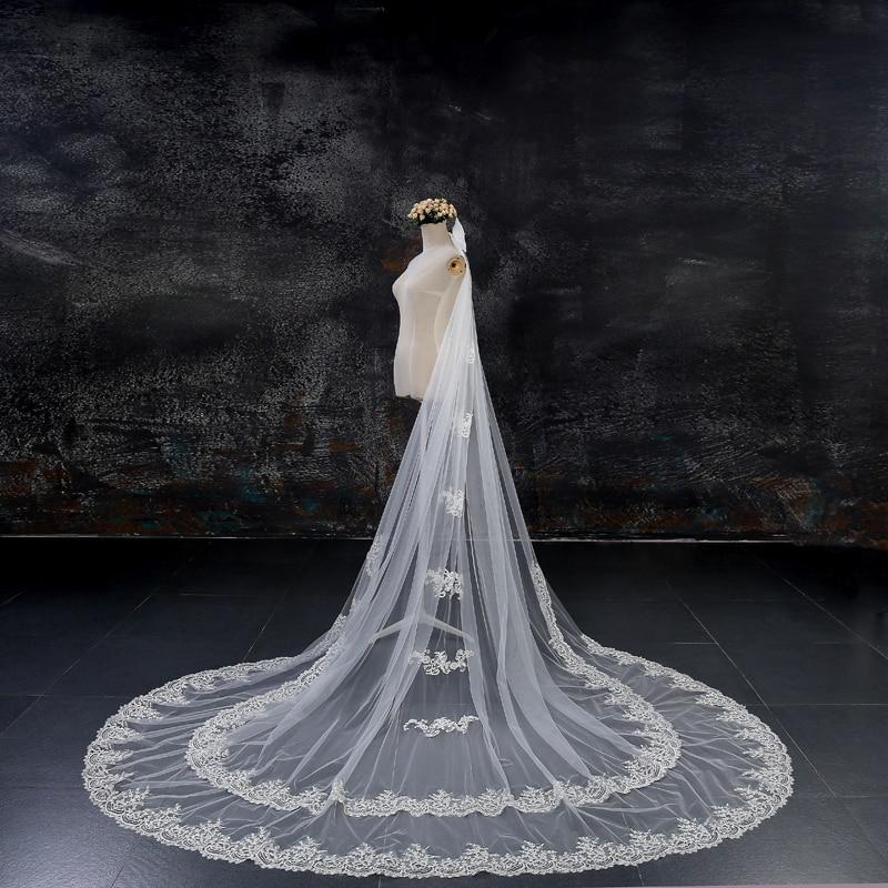 champagne wedding veils ivory white long bridal veil custom mantilla