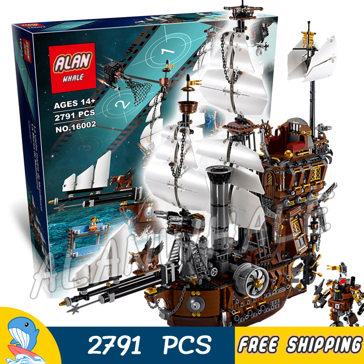 2791pcs Battle Ship Pirates of the Caribbean Metal Beard's Sea Cow Flagship 16002 Model Building Blocks Toy Compatible With lego black pearl building blocks kaizi ky87010 pirates of the caribbean ship self locking bricks assembling toys 1184pcs set gift