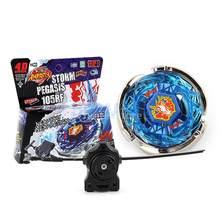 Fusion üst 4D hızlılık Fight usta fırtına PEGASIS 105RF BB28 dönen Top Ripcord fırlatıcı seti oyuncak çocuklar hediye