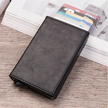 2019 NEW Fashion Card Holder Case ID Metal Credit Card Holders With RFID Business Aluminum Wallet for Credit Card waterproof business id credit card holder wallet pocket case aluminum metal shiny side anti rfid scan cover 2016 fashion