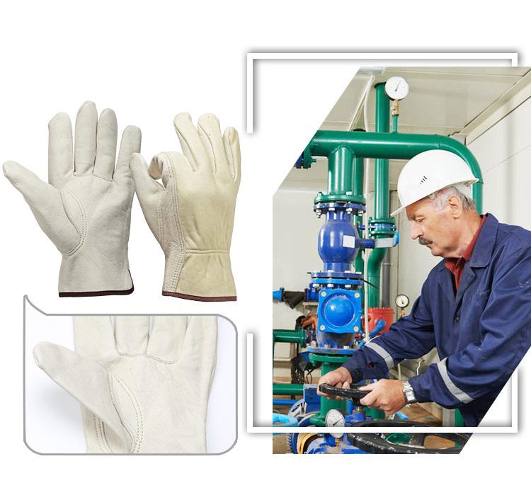 قفازات جلد للعمال 2
