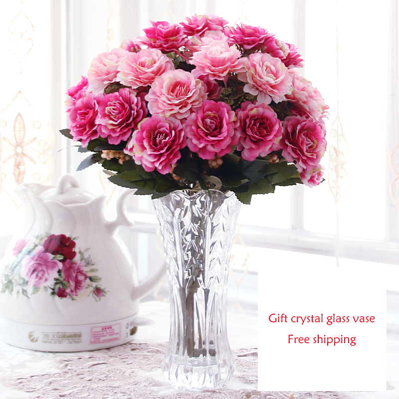 Simple European Style Floral Suit Glass Ornaments
