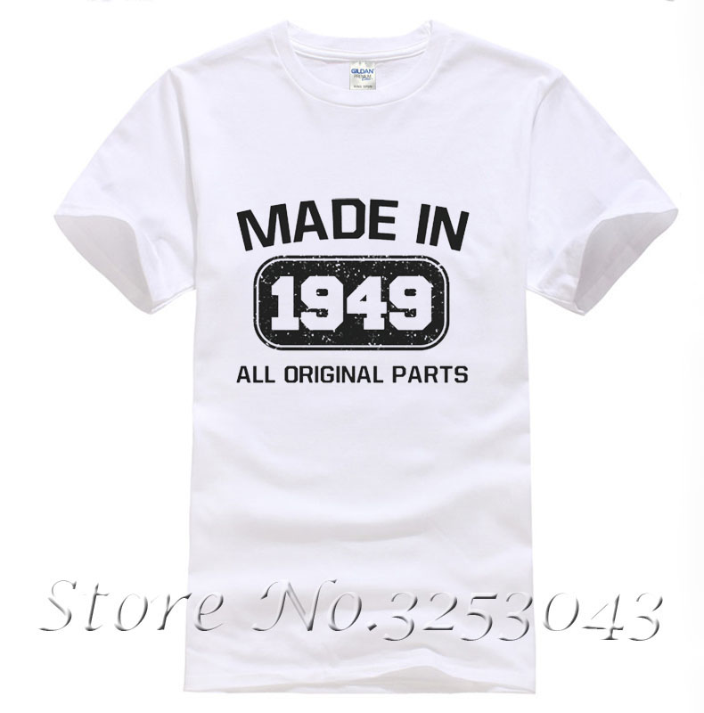 Made In 1949 T Shirt 65th Birthday Funny Gift Idea Present Fathers Day Tee Top