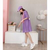 Long T Shirt Women Summer Cotton Ulzzang Korean Style Oversized T Shirt Harajuku Kawaii Streetwear Plus Size Women Clothing 5H30