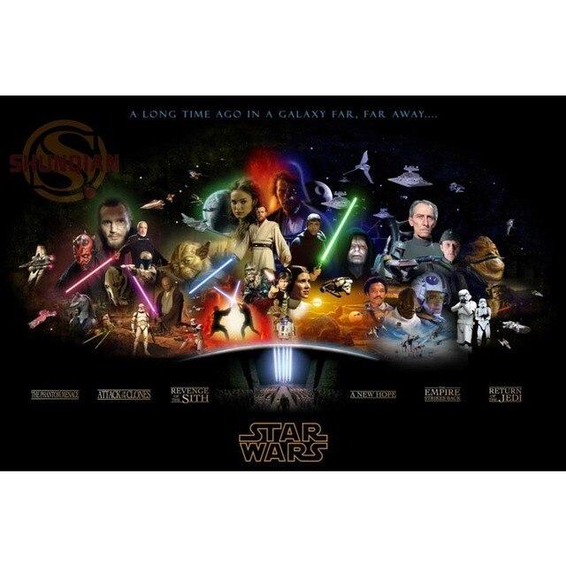 US $3.07 25% OFF|Besten Nizza Custom Star Wars Plakat Gute Qualität  Wandplakat heimtextilien Silk Poster Für Schlafzimmer cd % 47 in Besten  Nizza ...