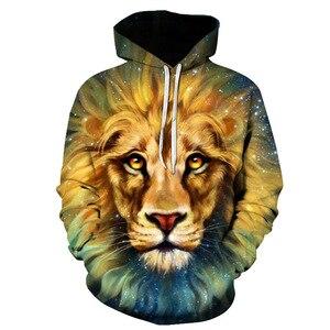 Image 5 - 2019 tier druck mit kapuze Sweatshirts Lila grün gelb Lion kopf 3D Hoodie Weiblich Männlich Herbst Pullover Xxxtentacion Trainingsanzug