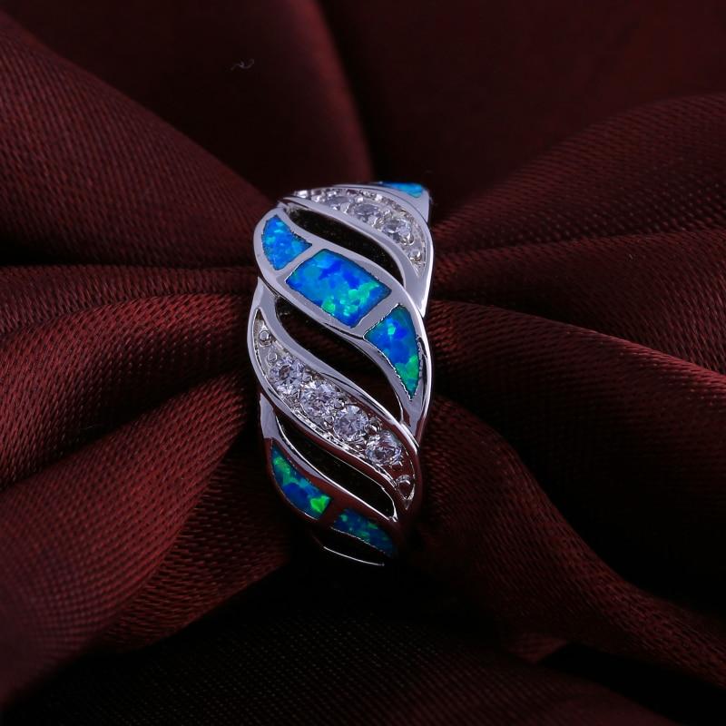 Toy üzüyü 925 Sterling Gümüş üzüklər Qadınlar üçün Mavi - Moda zərgərlik - Fotoqrafiya 3