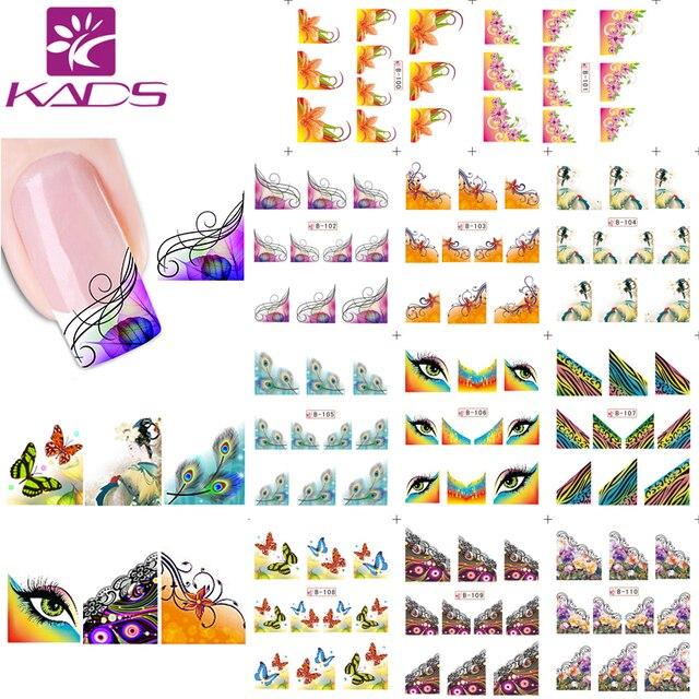 KADS 11/hoja/agua uñas pegatinas calcomanías Francia Diseño adhesivo de uñas para uñas accesorios de uñas de transferencia de agua