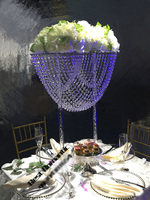 80cm Tall Wedding flower stand Crystal table centerpiece 4pcs/Lot