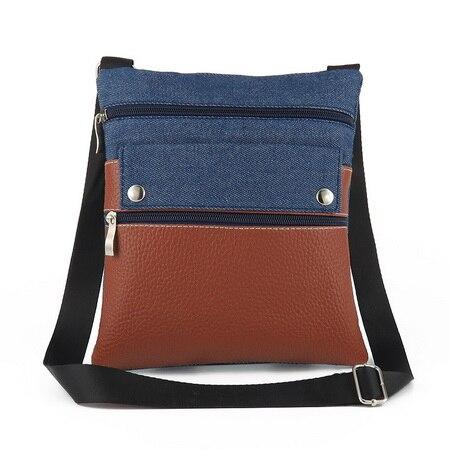 Designer Durch Oder Handtaschen Frauen Neue Denim Dhl Ems Blau Bags Weibliche Stücke Messenger Niet 20 Umhängetasche CC7wrx6