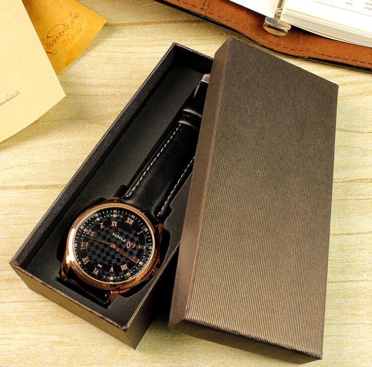 New simple design watch packaging carton gift box jewelry accessories box folding box black Original design patent box packaging