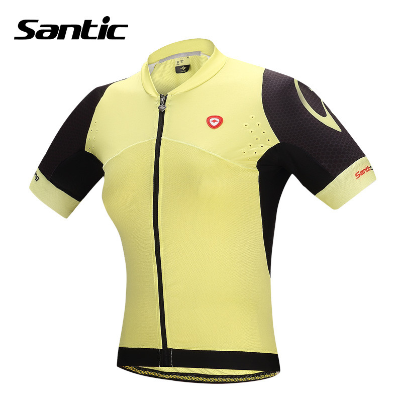 Santic Women Short Cycling Jersey Quick-Dry Breathable Slim-fitting  Bicycle Clothing Neat Seams and Delicate LInes L5CT050Y 2015 fdj cycling jersey quick dry cycling sets short sleeve jersey and 3d gel bib short with sleeve breathable bicycle wear