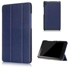 Магнит стенд кожа Pu case обложка для Lenovo Tab 3 8 плюс/Lenovo P8 TB-8703F 8.0 таблетки funda оболочки + экран протектор + стилус