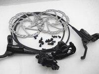 Kit de freio hidráulico da bicicleta mtb tektro HD M290 disco freio 750/1350mm disco hidráulico freio groupset óleo prato| | |  -