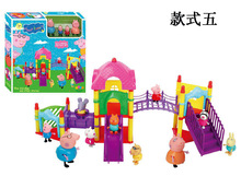 pig toys style5 Amusement park Toys PVC Action Figures Family Member Pig Toy Baby Kid Birthday Gift brinquedo Hot sale