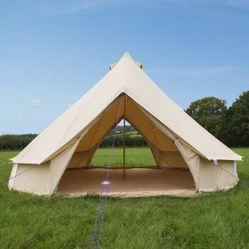 Grantham 4m i 5m podwójne drzwi bawełna namiot dzwonkowy płócienny luksusowe rodzinny namiot z kuchenką kurtka na ścianie festiwal muzyczny namioty