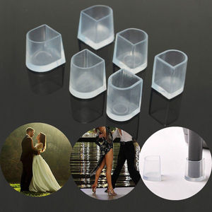 Image 4 - 50 pairs/lot High Heel Protectors for Grass Latin Stiletto Dancing Shoe Covers Heel Stoppers Antislip Silicone Heeler Wedding