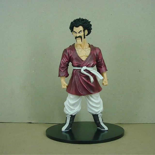 Anime Dragon Ball Z Super Mr.Satan Resolution of Soldiers anime cartoon action toy figures Collection model toy 19cm