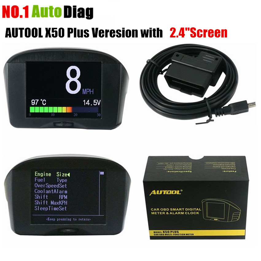 AUTOOL 2.4 ''Multi-Function Car OBD Smart Digital Meter