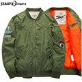 Jaqueta Bomber homens O Pescoço 2017 Nova Chegada 6XL NASA Homens jaqueta jaqueta masculina Dos Homens Do Exército Verde Jaqueta Militar Marca clothing