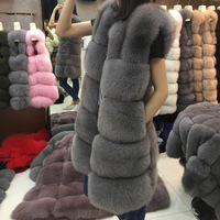 JKP Brand Winter Women's Jacket Natural Fox Fur Real Fur Coat Furry Outdoor Warm Fashion 2018 New Hot Buy Discount High Quality