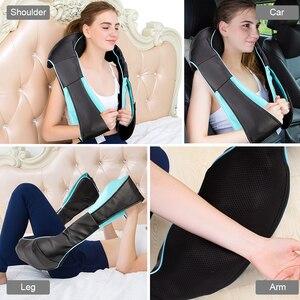 Image 5 - (Hediye kutusu) laGuerir ev araba U şekli elektrik Shiatsu geri boyun omuz vücut masajı kızılötesi ısıtmalı yoğurma Massagem