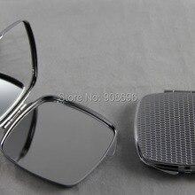 100 шт пустое квадратное металлическое компактное зеркало своими руками, на заказ логотип зеркало с принтом-DHL и FedEx