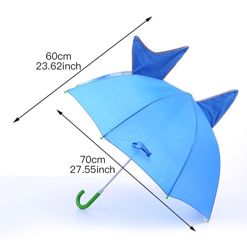 Cute Cartoon Children Umbrella Animation Creative Long-handled 3D Ear Modeling Kids Umbrella for Boys Girls