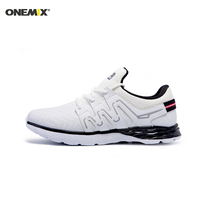 Onemix Autumn&Winter Men's Running Shoes Leather Athletic Shoes Running Sneakers Men Sport Shoes Running Men Shoes Free Shipping