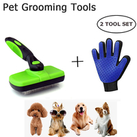 Pet Hair Cleaner Combs Dog Cat Deshedding Brush Fur Fur Grooming Glove Portable Cleaning Tools Easy Use Clean Hair For Dogs Cats