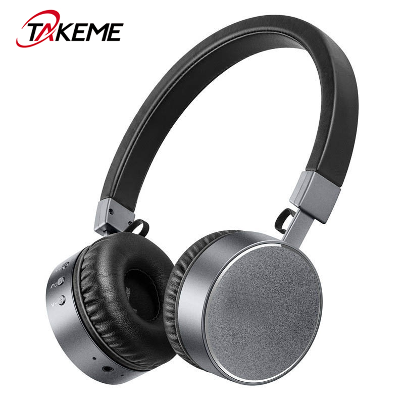 TAKEME Stereo Bluetooth Headphones with Mic Noise Reduction Wireless Headset for Xiaomi iPhone Samsung Pro Huawei Mobile Phone mllse anime detective conan bluetooth earphone sport wireless headphones stereo bluetooth headset with mic for iphone samsung