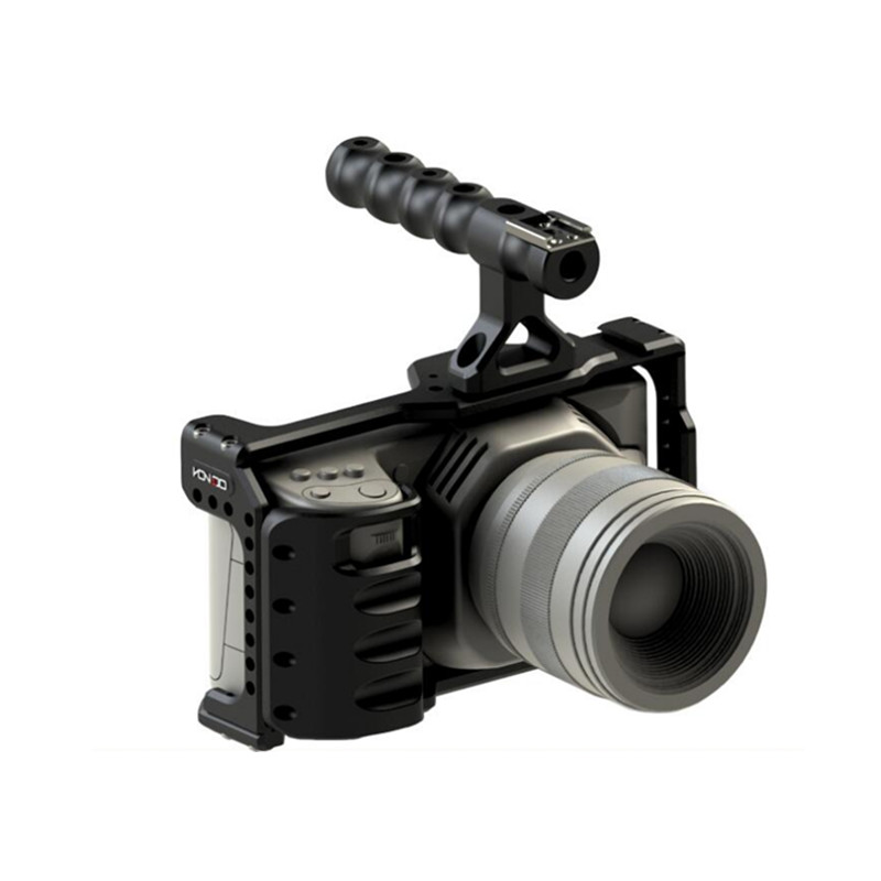 Image 5 - HONTOO BMD BMPCC 4 K клетка Rig DSLR RIG каркасная плита с верхней ручкой 15 мм камера установка для BlackMagic Карманный кинотеатр камера 4 K-in Аксессуары для фотостудии from Бытовая электроника