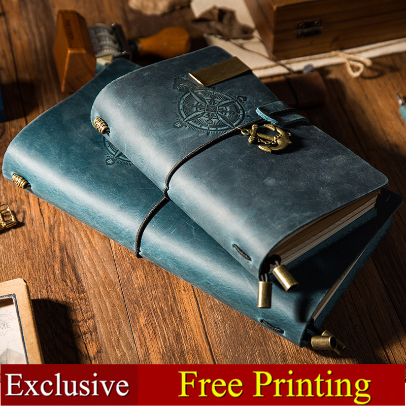 Vintage Genuine Leather Travelers Notebook PIRATE style Diary Journal Handmade Cowhide gift travel notebookVintage Genuine Leather Travelers Notebook PIRATE style Diary Journal Handmade Cowhide gift travel notebook