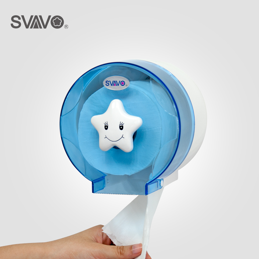 Wall Mounted ABS Plastic Toilet Paper Holder Bathroom Roll Paper Holder A variety of colors Creative Roll Tissue box creative smily towel tissue plastic tube box holder blue white