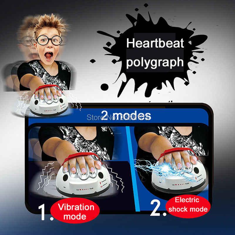 Polygraph testi Tricky komik ayarlanabilir yetişkin mikro elektrik çarpması yalan dedektörü edici yalan gerçek parti oyun konsolları hediyeler oyuncak