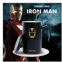 Kreative Superman Schlacht Batman Mark Keramik-tasse Coffeemilk wasser paar tasse (keine deckel mit löffel als geschenk)