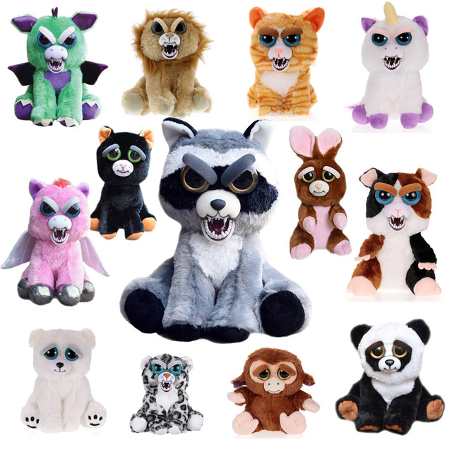 Toys 2017 New Feisty Pets Roaring Angry Toy Children Gift Change Face Stuffed Animal Doll Plush Toys For Kids Cute Prank toy