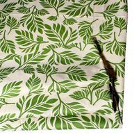 Vintage Terylene Bundle Patchwork Fabric Cloth For Home Textile Bedding Green Leaf Sewing DIY 1 5m