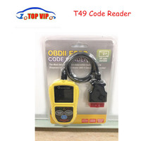 Free Shipping OBDII CAN Car Code Reader Scanner T49 Auto OBD2 Car Scanner OBD OBD2 High