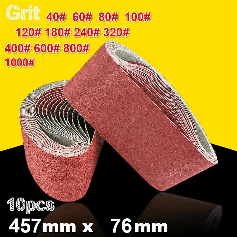 10 x Sanding Belts 40 Grit Grade 10 x 330mm for Wood /& Metal Power Sanders