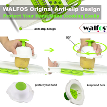 WALFOS Mandoline Peeler Grater Vegetables Cutter Tools with 5 Blade