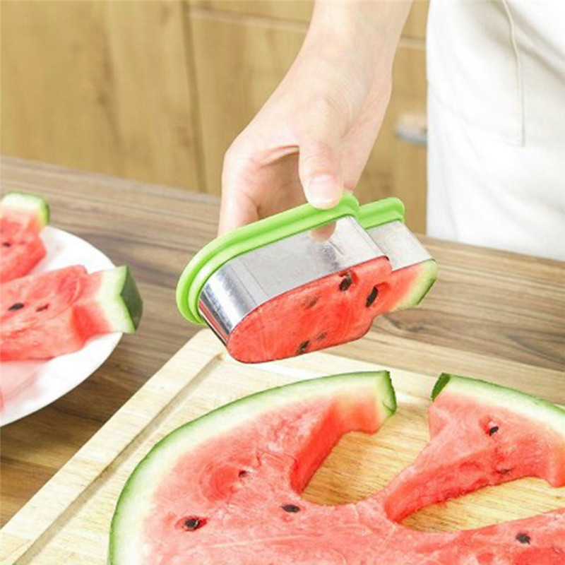 Creative Watermelon Slicer Fruit Melon Cutter Knife Fast Ice Cream Mold Cutting Tools Kitchen Gadgets Stainless Steel