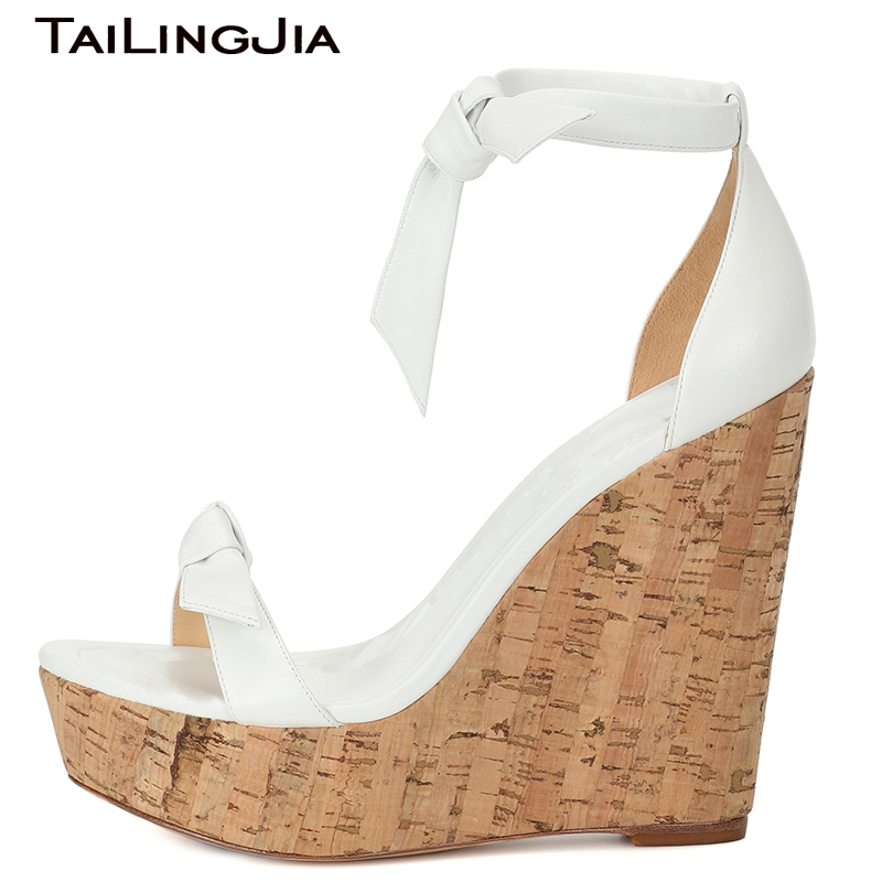 cac3696f998 Wedge Heel Women Summer Sandals High Heel Ankle Strap Platform Woman Shoes  Open Toe High Quality Brand Ladies Shoes Plus Size