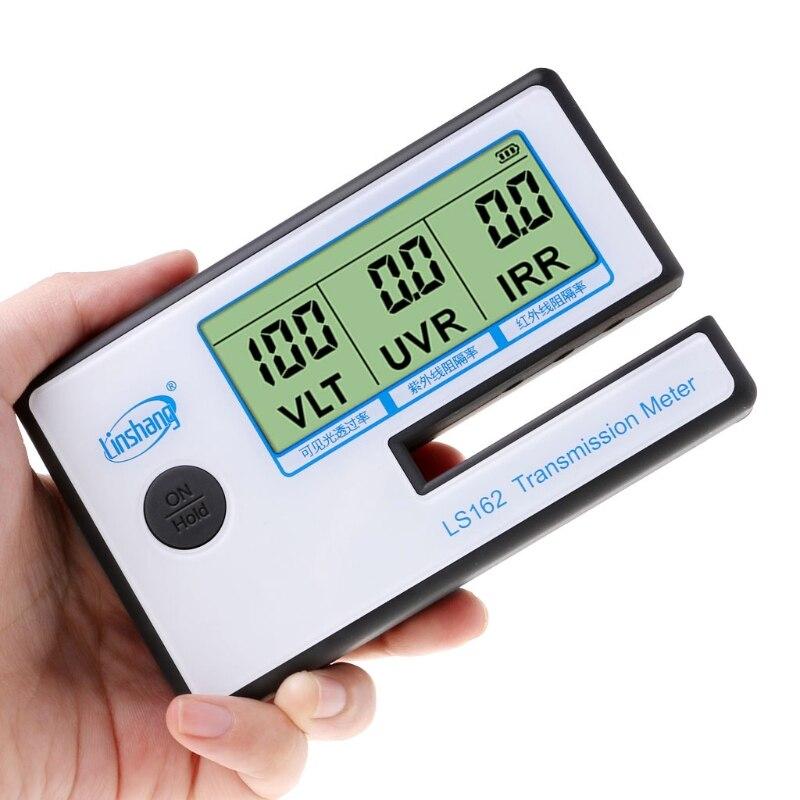 LS162 compteur de teinte de fenêtre compteur de Transmission de Film solaire, testeur de verre filmé, compteur de transmittance VLT, compteur de rejet UV IR