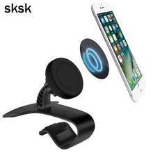 Universal Antiskid Car Phone Holder Clip HUD Design Dashboard Adjustable Mount For iPhone 7 Plus 6 Galaxy S8 Phone Stand Bracket