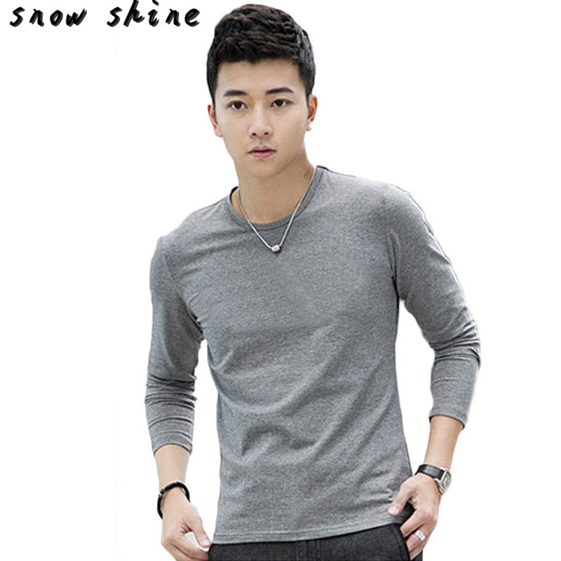 snowshine YLIWFashion Men Slim Fit Cotton Crew Neck Long Sleeve Casual T-Shirt Tops  FREE SHIPPING