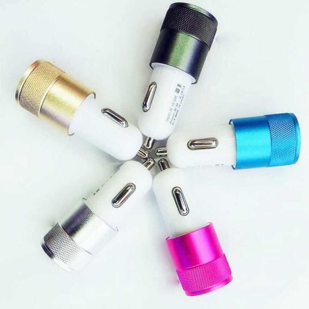 5 اللون البسيطة 2 ميناء USB شاحن سيارة 2.1A العالمي المزدوج مزدوج USB الهاتف المحمول محول الشحن ل الهاتف الخليوي