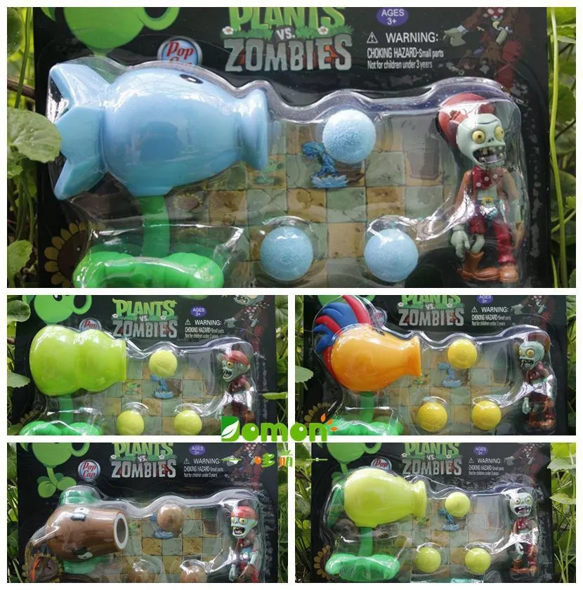 2015 new New Popular Game Plants vs Zombies Peashooter PVC Action Figure Model Toys 5 Style Plants Vs Zombies Toys For Baby Gift image