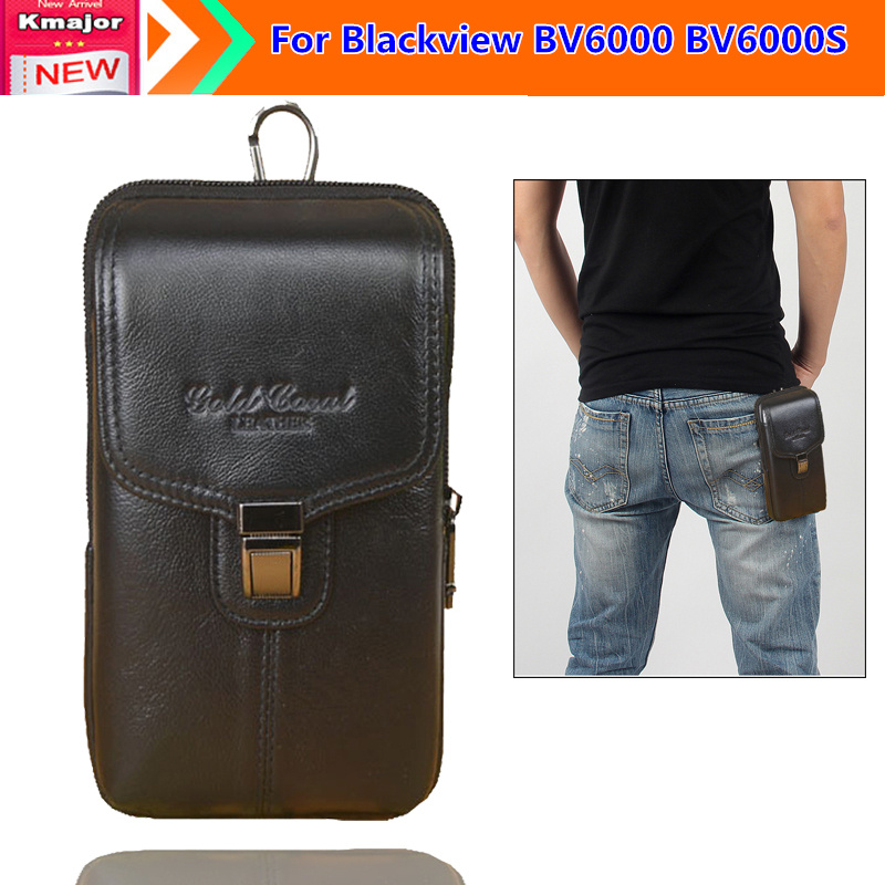 Genuine Leather Carry Belt Clip Pouch Waist Purse Case Cover for Blackview BV6000 BV6000S Cell Phone bag Free Drop Shipping